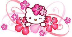 Hello Kitty Pink Flowers
