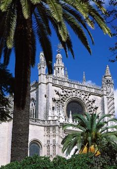 seville cathedral . seville spain . worlds largest of all roman catholic cathedrals and largest medieval gothic religous building . houses the tomb of christopher columbus