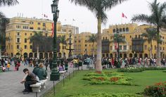 Self-guided walk and walking tour in Lima: City Orientation Walk, Lima, Peru. Get offline map and tour route using our GPSmyCity self-guided walking tours app for your mobile device. South America Continent, Lima City, The Catacombs, South American Countries, Peru Travel, Conquistador, Walking Tour, Plaza, Trip Planning