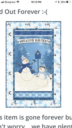 Welcome Winter, Snowman Quilt, Kids Rugs, Quilts, Home Decor, Decoration Home, Kid Friendly Rugs, Room Decor, Quilt Sets