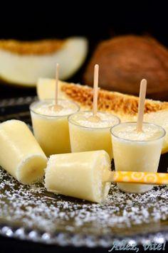 Allez, vite! Eispops mit Melone und Kokos - soo lecker!! Schnell & einfach :-)