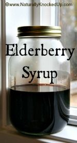 Elderberry syrup with ginger, cinnamon, rise hips and brandy
