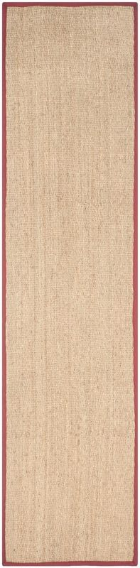 Safavieh NF115D Natural Fiber Natural and Red Power Loomed Sisal and Seagrass Ca 2 1/2 x 6 Home Decor Rugs Rugs