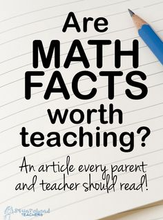 New to Squarehead Teachers? Welcome! :-) Connect with me via Facebook, Pinterest, Bloglovin' or Twitter! When I first heard about this article, I was amazed. What? Not teach kids to memorize basic ...