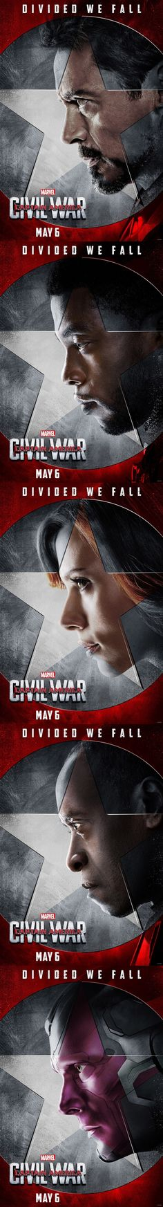 Captain America: Civil War Character Posters | TEAM IRON MAN.... I can't wait to go see this!!!!