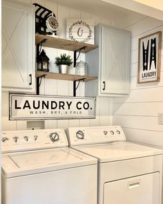 Tiny Laundry Rooms, Laundry Room Remodel, Laundry Decor, Farmhouse Laundry Room, Laundry Room Signs, Laundry Room Organization, Laundry In Bathroom, Farmhouse Decor, Small Laundry Closet