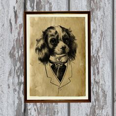 Hey, I found this really awesome Etsy listing at https://www.etsy.com/listing/186873357/spaniel-print-dog-decoration-animal