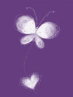 Vlinder hart paars