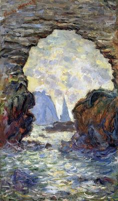 ✭ 1885-86 Claude Monet The rock Needle seen through the Porte d'Amon
