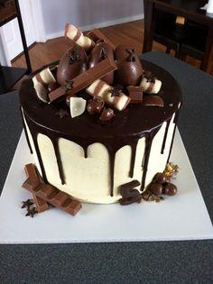 chocolate drip cake. Homemade By Hollie.
