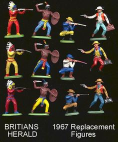 TOY SOLDIER HQ INC<P> BRITIANS AMERICAN WILD WEST HERALD TOY SOLDIERS AND FIGURES FOR SALE