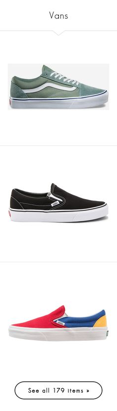 """""""Vans"""" by mxnvt ❤ liked on Polyvore featuring shoes, sneakers, canvas shoes, canvas skate shoes, vans shoes, flexible shoes, long shoes, slip on trainers, vans trainers and vans footwear"""