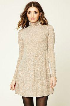 Long sleeve mock turtleneck dresses