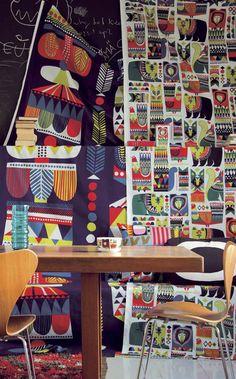 Marimekko - kukuluuruu by Sanna Annukka Textures Patterns, Print Patterns, Marimekko Fabric, Scandinavia Design, Repeating Patterns, Hygge, Decoration, Pattern Design, Finland