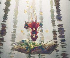 Hayaller dünyası bize ait, bize özel ve bizim yalnızlığımızın en güzel ürünleri.. Hele ki elinden tutup kitaplarının sayfaları arasına bizleri...