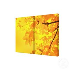 "Yellow Maple 2-piece 34"" x 22"" wrapped canvas. $200  ."