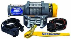 Superwinch 1125220 Terra 25 2500lb/1134kg single line pull w roller fairlead, handlebar mnt toggle, and handheld remote by Superwinch. $197.06. Amazon.com                    The Superwinch Terra 25 (1125220) provides the power, versatility and durability that powersport users need. A true workhorse right out of the box, it possesses a superior all-steel 3-stage planetary gear train with machined-in, oil pocket bronze bearings, a 2,500-lb pull rating, a 1.3 hor...
