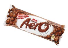 An Aero bar from England. Why is British candy so much better than American candy?!