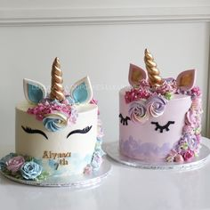 Girly Birthday Cakes, Unicorn Birthday Parties, Chocolate Birthday Cake Decoration, Cupcake Cakes, Fun Cupcakes, Girl Cakes, Pretty Cakes, Creative Cakes, Cake Art