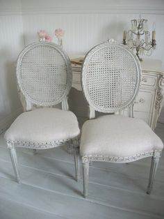 French Cane Back Dining Chairs/I have desired a set of these for years & I'm determined to find them at a yardsale or thrift store soon!!!