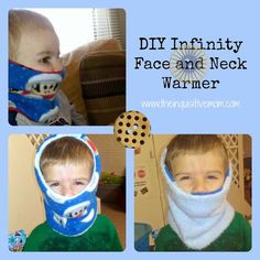 How to make a fleece infinity face and neck warmer for your kids...