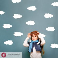 Cloud Wall Decals Cloud Nursery Decor Cloud Wall door graphicspaces