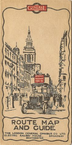 London General Omnibus Company , Route Map & Guide cover