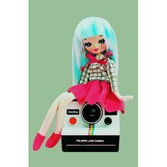 polaroid camera girl print 5 x 7 CLICKSTART MY by boopsiedaisy