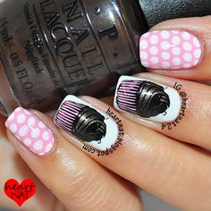 Cupcakes & Polka Dots using MoYou London Pro 01 XL and Pro 07 XL