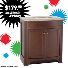 We're gearing up for Black Friday with an awesome deal on this vanity for you!