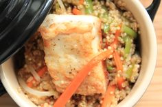 Chaufa de quinua con pescado
