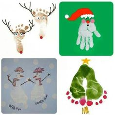 Home made Christmas card ideas.