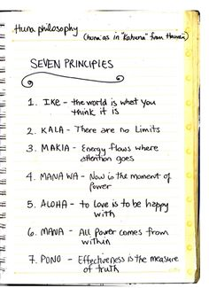 7 Principles of Huna.great to have a coach that can remind me of these Hawaiin principles! Oponopono Mantra, Hawaiian Phrases, Hawaii Quotes, Self Help, Wise Words, Me Quotes, Inspirational Quotes, Wisdom, Positivity