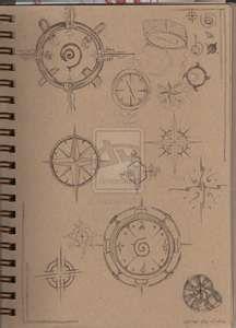Compass tattoo design sheet