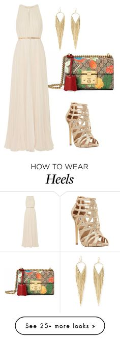 """Untitled #2492"" by janicemckay on Polyvore featuring Gucci, Halston Heritage, Steve Madden, Jules Smith, women's clothing, women, female, woman, misses and juniors"