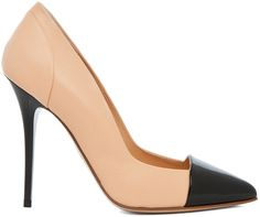 These heels are so beautiful nude and black nice colours.