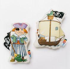 Cojín Pirata Pata de palo y Barco Pirata | MooiesBonito | CoolMaison