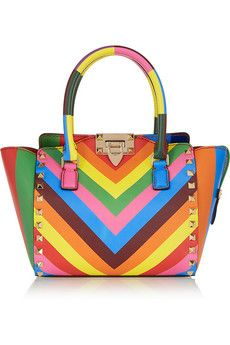 d9f7cd09913 Valentino The Rockstud mini printed leather tote   NET-A-PORTER Top  Designer Brands