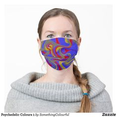 Psychedelic Colours 1 Cloth Face Mask Psychedelic Colors, Cool Masks, Snug Fit, Sensitive Skin, Cool Designs, Cool Style, Colours, Pattern, Awesome Stuff
