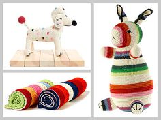 Die gehäkelten Stofftiere und Accessoires findet Ihr bald bei kidisto.de. Designerin die Niederländerin anne-claire petit.