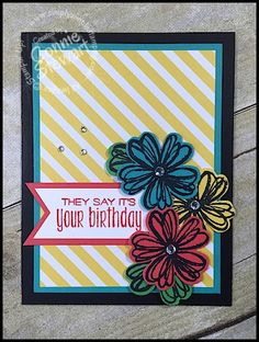 Stampin' Gals Gone Wild Weekend Challenge for June 24, 2016 - check it out at www.SimplySimpleStamping.com