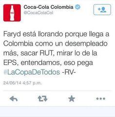 Un trino algo ofensivo en contra de una figura nacional, que fue publicado en la cuenta oficial de Coca Cola Colombia el 24 de junio durante el partido Colombia vs Japón. La disculpa de la marca aseguró que había tuiteros invitados; sin embargo, el daño estaba hecho. #errorestuiteros
