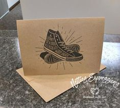 A journey of a thousand miles - Graduation Card Handmade Greeting Card Designs, Handmade Greetings, Retirement Cards, Graduation Cards, Brown Bags, Card Stock, Custom Design, Notebook, Journey