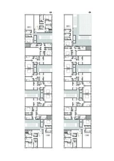 hotel planos ArchShowcase - Mirador Building in Madrid, Spain by MVRDV Architecture Concept Drawings, Architecture Plan, Residential Architecture, Architecture Details, Container Architecture, Hotel Floor Plan, Student House, Social Housing, Apartment Plans