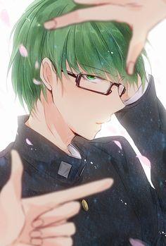 Midorima Shintarou ~~~ anyone care to venture who's fingers those are? lol