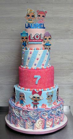 Doll Cake You are in the right place about Lol Surprise Dolls Cake walmart Here we offer you the most beautiful pictures about the Lol Surpri Doll Birthday Cake, Funny Birthday Cakes, Pink Birthday Cakes, 6th Birthday Parties, 7th Birthday, Birthday Ideas, Little Girl Birthday, Bday Girl, Lol Doll Cake
