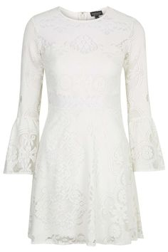 Fluted Sleeve Lace Dress, Topshop