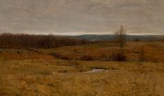 """""""Landscape, December Dwight William Tryon, oil on cradled panel, x private collection. American Impressionism, Seascape Art, Create Image, Painting Inspiration, Landscape Paintings, Sky, Hudson River, Outdoor, Boston"""