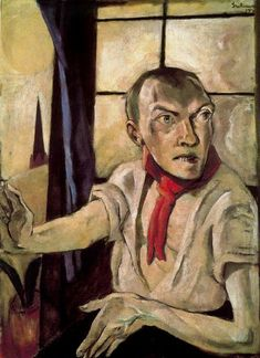 Max Beckmann, Selbstbildnis. Stuttgart Kunstammlg 3,000. This painting was banned by the Nazi regime and exhibited at the Degenerate art exhibition in Munich in 1937.