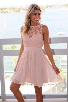 26fac4335f Blush Crochet Short Dress with Open Back